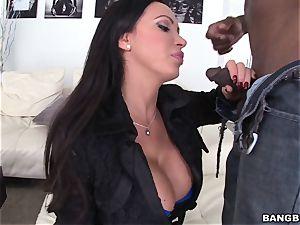 Nikki Benz smoking and inhaling black knob