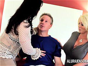 cougar detective Alura Jenson 3some bang-out