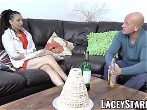 LACEYSTARR - black stunner shares manhood before internal ejaculation