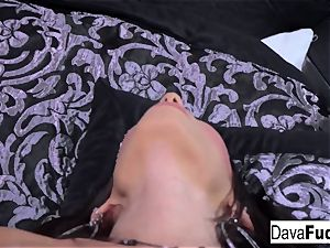 Solo on sofa with a pinkish fucktoy