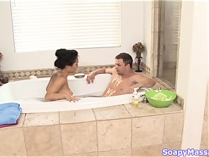 asian sweetheart Asa Akira as the Soapy massage Parlour