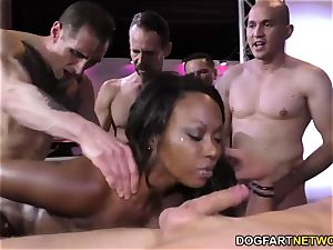dark-hued Skyler Nicole luvs rectal fucky-fucky and gang-fuck
