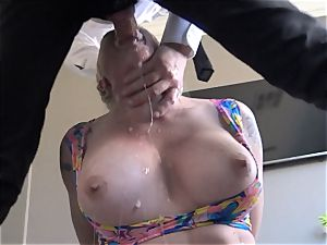 big-chested Leya Falcon harshly arse ravaged by Pascal white