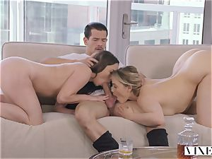 VIXEN insane secretary Can't Hold Back Anymore In epic threeway
