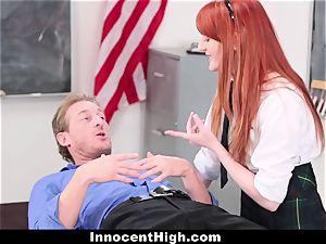 InnocentHigh - uber-cute sandy-haired schoolgirl penetrates Drama tutor