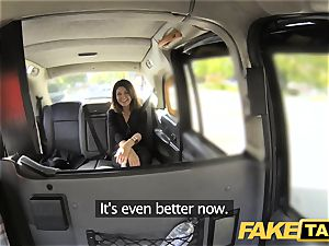 fake taxi hefty facial cumshot jism shot for dark-haired in stocking