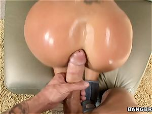 scorching bootie Nikita Von James spooned deep