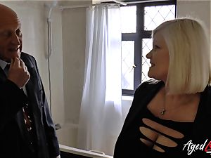 AgedLovE Lacey Starr poked rock hard with Sales Agent