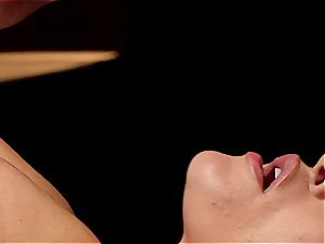 crazy masseur makes Krissy Lynn shake after sensuous love making