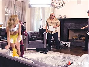 Jessa Rhodes gets pulverized by dangled superhero