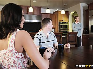 Nicole Aniston and August Ames takes it nads deep in the minge