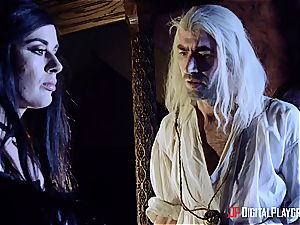 Danny D fools around as Geralt and plows black-haired babe