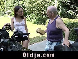 grandpa sleepy manmeat Woke Up By A youthful humid gash
