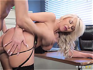 The manager' wild wifey gets a geyser of spunk obeyed in her puss