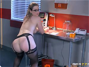 horny doctor Sunny Lane gets hold of her favourite patient