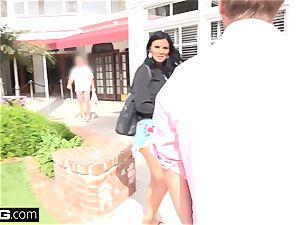 Jasmine Jae brings her guy plaything along for a pov pounding
