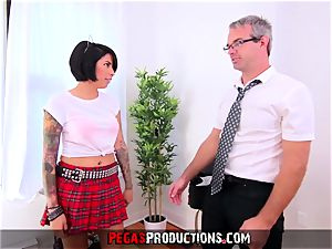 pounding my steamy nubile Step-Daughter in Uniform