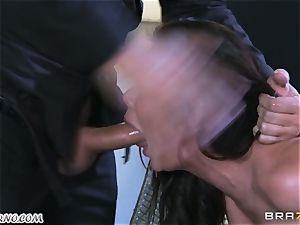 magnificent mature mega-bitch Nicole Aniston with massive bumpers gets buttfucked and drizzling