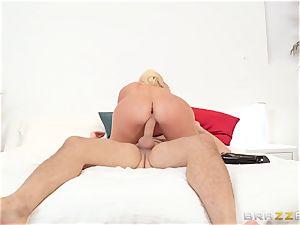 bitchy cougar tempts her sister's devoted husband Keiran Lee