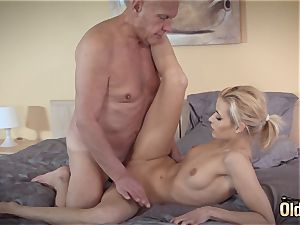 Sugar dad ravages his first nubile she is so sexual