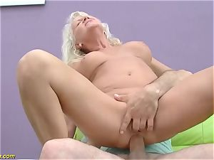 mind-blowing 73 years old mother first-ever hefty weenie ass-fuck pound