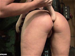Kathia Nobili faux-cock pummel the caboose of her acquaintance