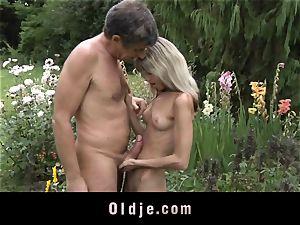 Gina Gerson gets buttfuck from an elderly fellow