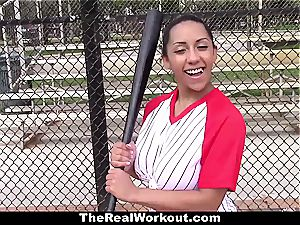 big-chested Latina likes to have fun with ballsack
