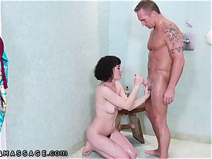 Shh.. I tough boned first-timer masseuse My wife Cant Know