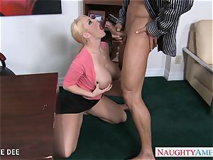 astounding Sophie Dee penetrating in the office