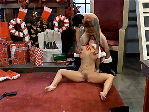 Santas dominatrix Phoenix Marie gets her candy cane