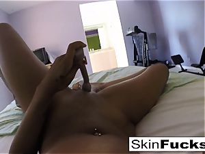 Self shot solo with flesh Diamond and her honeypot fucktoys