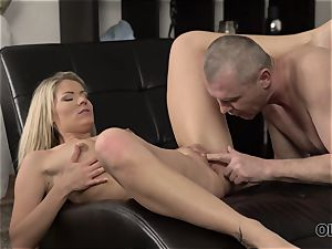 OLD4K. hot hook-up of old and youthfull lovers finishes with great internal ejaculation