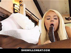 SheWillCheat hotwife wife absorbs ebony manstick