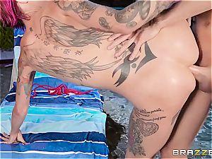 emo slut Anna Bell Peaks gets her sphincter annihilated by Xander