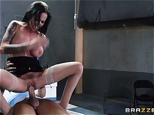 Brandy Aniston smashes the massive hard-on of a very horny guy