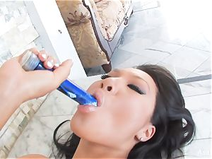 chinese porn industry star Asa Akira's slow and wondrous solo