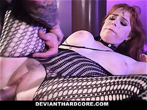 DeviantHardcore - steamy redhead Gets gullet ravaged