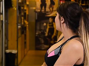 asian hotty London Keyes pulverizes her dude after a workout