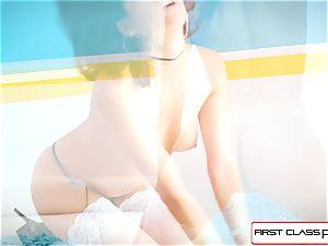 FirstClassPOV-Watch Lexy Rose deep-throating and pummeling a fat fuck-stick