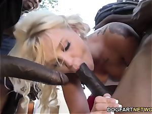 Bella Jane's big black cock group sex
