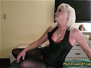 John Calls Over a fresh buddy with Ms Paris Rose