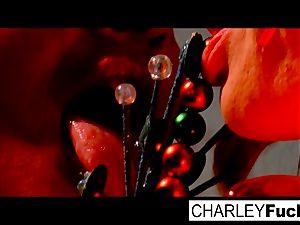 Charley and her beautiful girlfriend screw