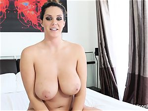 Interview with huge-titted beauty Alison Tyler