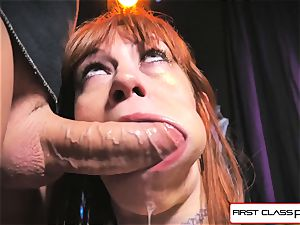 very first Class point of view - Alexa Nova inhaling a gigantic man rod in point of view