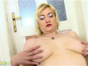 OldNanny wild towheaded Mature Evi Solo poon playing