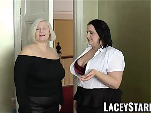 LACEYSTARR - gals cummed on their sizzling faces by big black cock