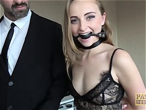 PASCALSSUBSLUTS - nymph Bug gagging on man rod before ass-fuck