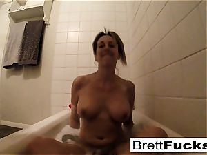 Brett Rossi takes a steamy tub that makes her real wild