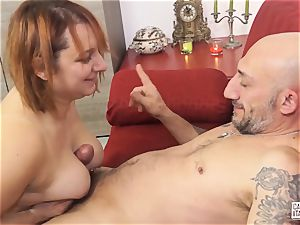 audition ALLA ITALIANA - Italian red-haired deep anal fuck-fest